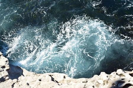 l'aigua, ones, aigües braves, Roca, oceà, Mar, esquitxades