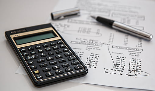 redovisning, svart, budget, beräkning av, beräkning, Kalkylatorn, Finance