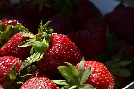 fruita, fruites, maduixa