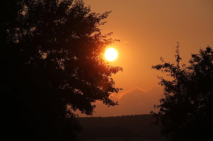 일몰, 오렌지, abendstimmung, 자연, 저녁 하늘, 황혼, 스카이