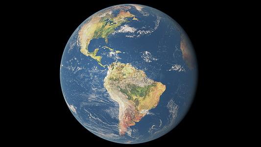 earth, planet, space, planet earth, world, globe, blue