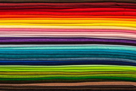 textilné, Farba, farebné, textílie, textúra, dúha, Farebná schéma