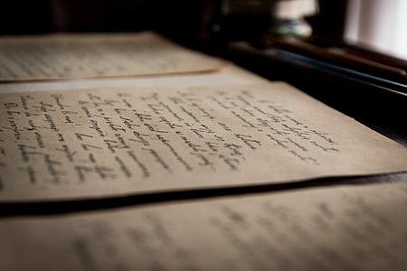 Surat-surat yang lama, lama, Surat, tulisan tangan, Perpustakaan, pendidikan, Arsip