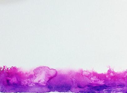 akvarel, roza, ljubičasta, plin, prskanje, tekstura, štrcanje