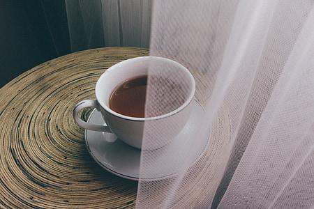 tassa de te, te, menta, beguda, blanc, calenta, begudes