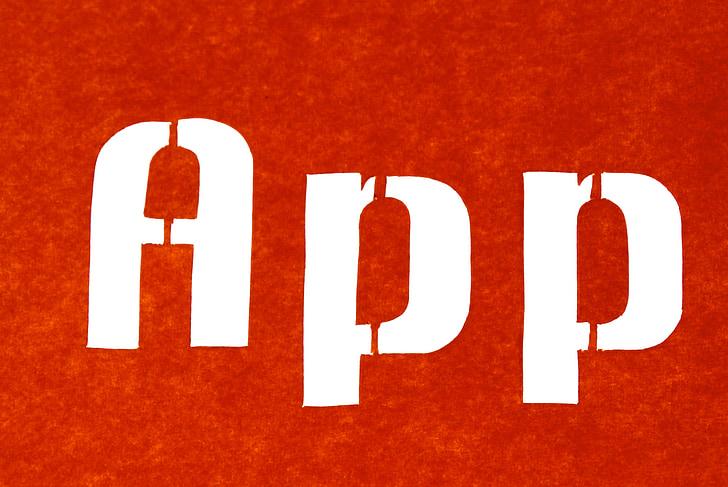 app, Uporaba, programska oprema, smartphone, besedilo, obris, Opisuje