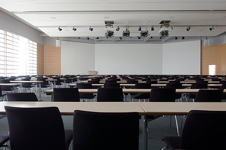 hall, congress, architecture, building, modern, projection screen, wood