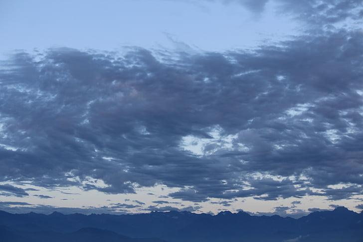 taivas, sininen, Luonto, pilvinen taivas
