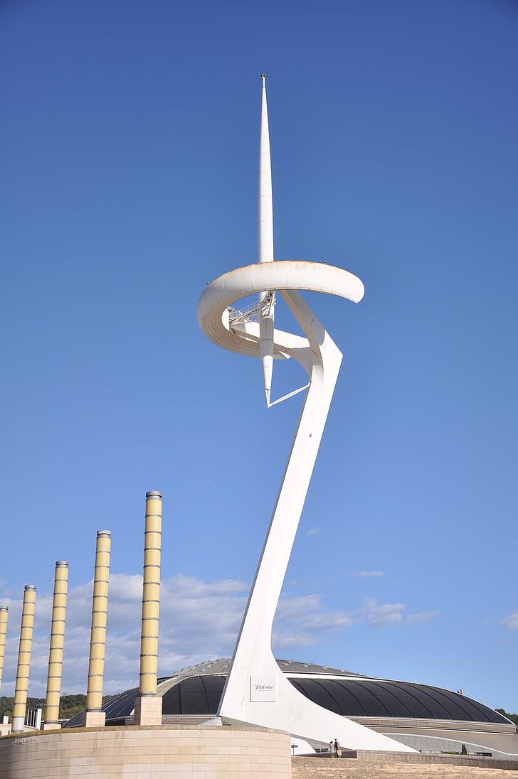 barcelona, city, antenna, mobile telephony, catalonia, cities, architecture