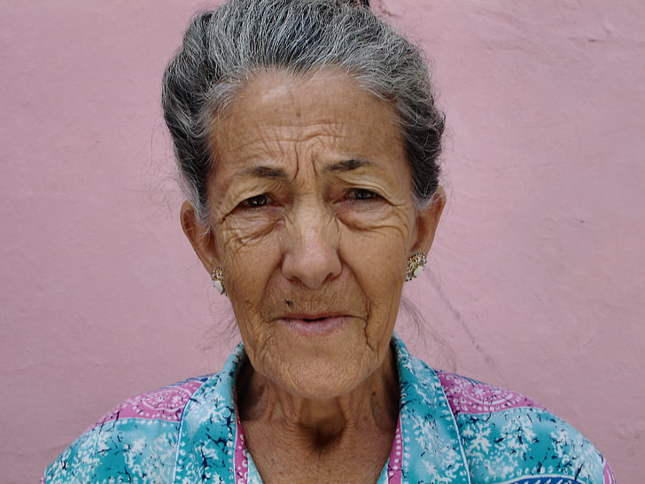 woman, old, wrinkled, old woman, portrait, granny, elderly