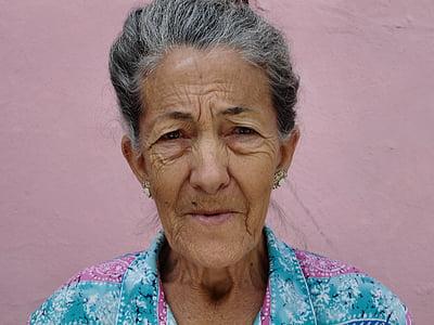 woman, old, wrinkled, old woman, portrait, granny, elderly