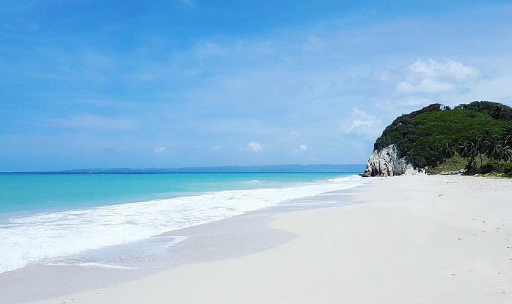 Haiti, Karibien, stranden, vit sand, landskap, inga människor, Tom