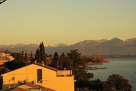 en el llac de garda, Nord Itàlia brescia, muntanya, tranquil, Llac, Parc de visualització