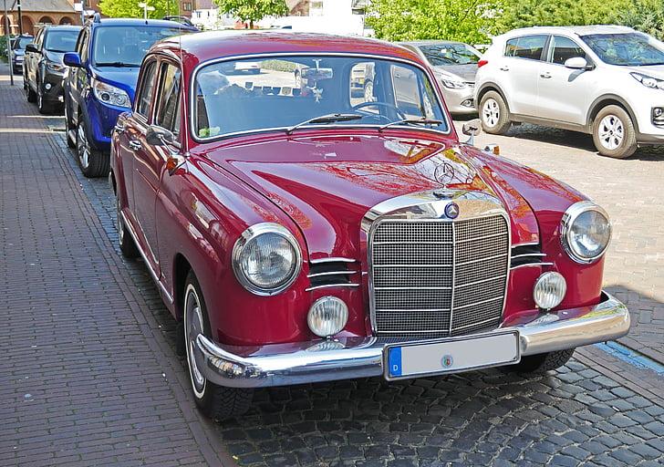 Mercedes 180, Oldtimer, 1958, palauttaa, toiminnan, hyväksytty, toimi