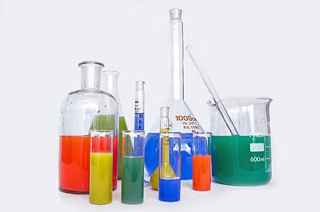 Lab, teadusuuringute, keemia, test, eksperiment, Paljud, farmaatsia
