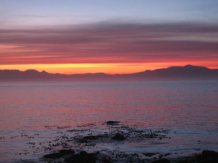 cape of good hope, coast, sunset