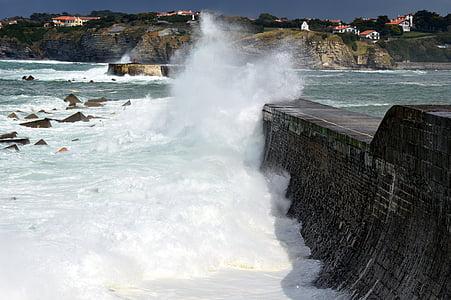 storm, wave, atlantic, ocean