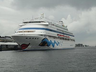 fartyg, Kiel, vatten, Sky, blå, Östersjön, kryssning