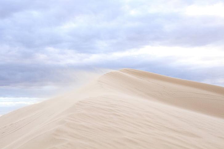 natureza, paisagem, areia, deserto, nuvens, céu, viagens