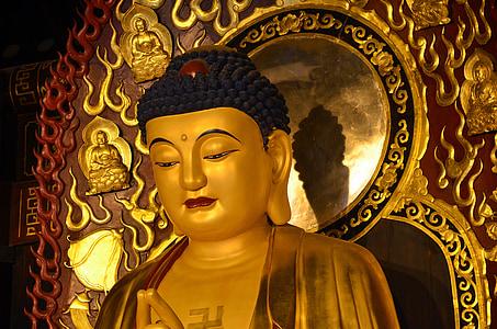 Ķīna, Pekin, reliģija, Buddha, statuja, Budisms, Pekina