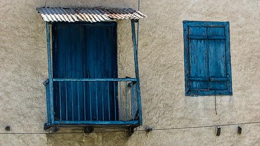 Cypr, Troulli, stary dom, Architektura, tradycyjne, okno, stary