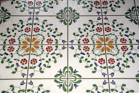 ubin, geometris, latar belakang, mosaik, seni, warna-warni, dekoratif