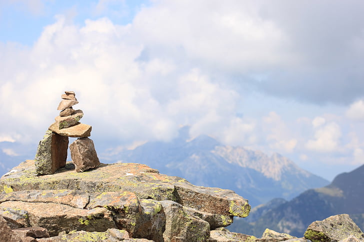 relaxació, muntanya, natura, muntanyes, núvols, clar, Senderisme