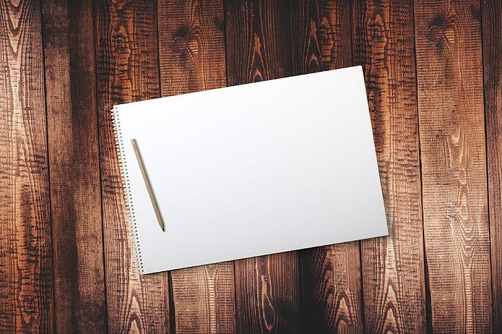 Tabel, puit, kirje, Märkmik, puidust laud, raamat, stiil