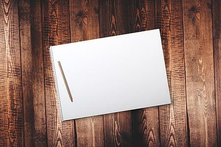 Bàn, gỗ, kỷ lục, máy tính xách tay, bàn gỗ, cuốn sách, phong cách