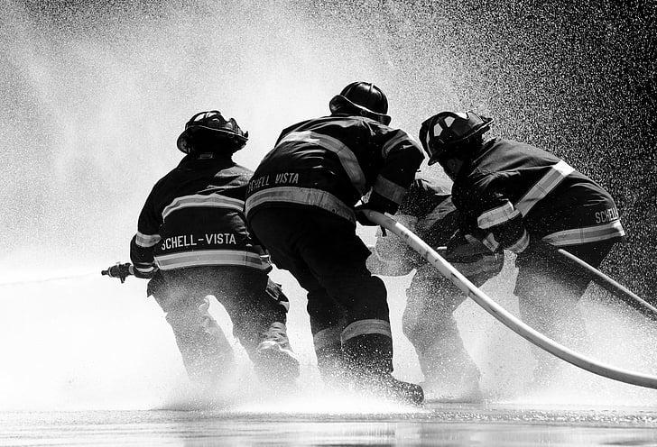 tűzoltó, Sonoma, víz, tűz, spray, Splash, tömlő