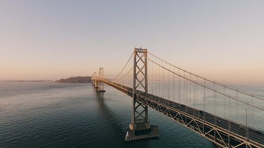 arquitectura, Fotografía, suspensión, puente, Puente de la bahía, San francisco, arquitectura