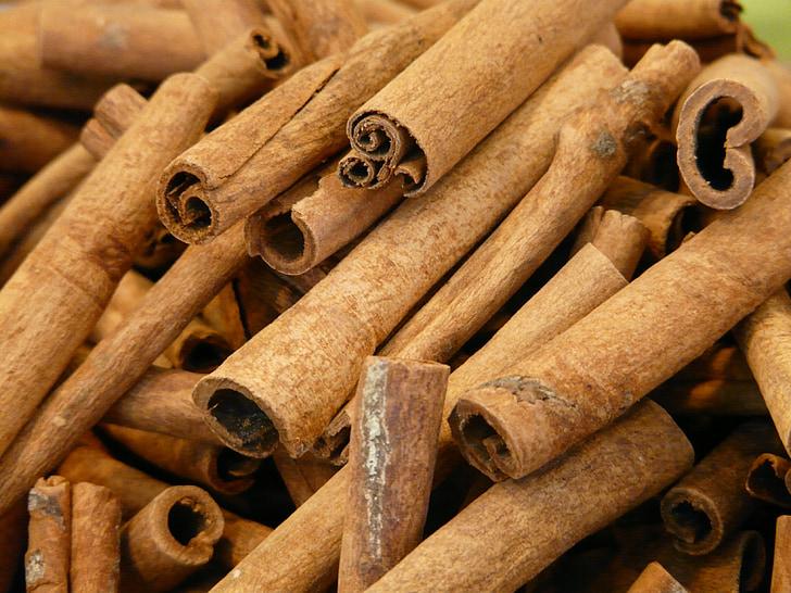 シナモン, シナモンスティック, 乾燥, スパイス, 樹皮, 茶色, シナモンの棒