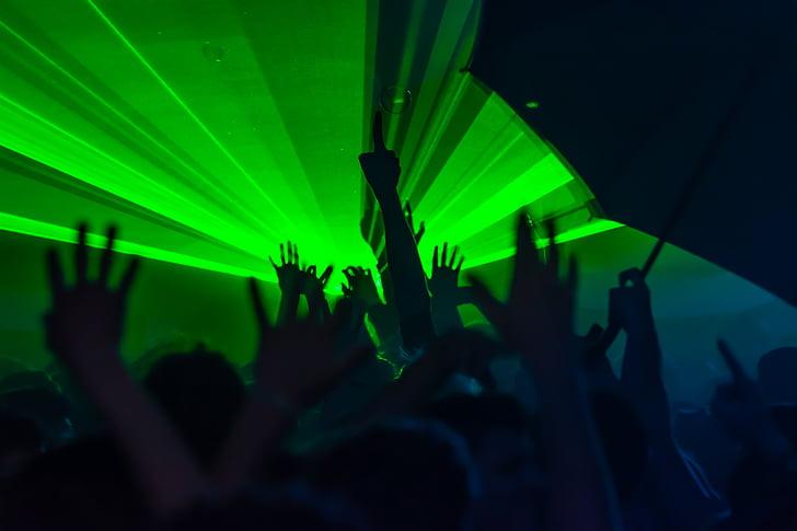 party, lights, music, night, club, nightclub, fun laser