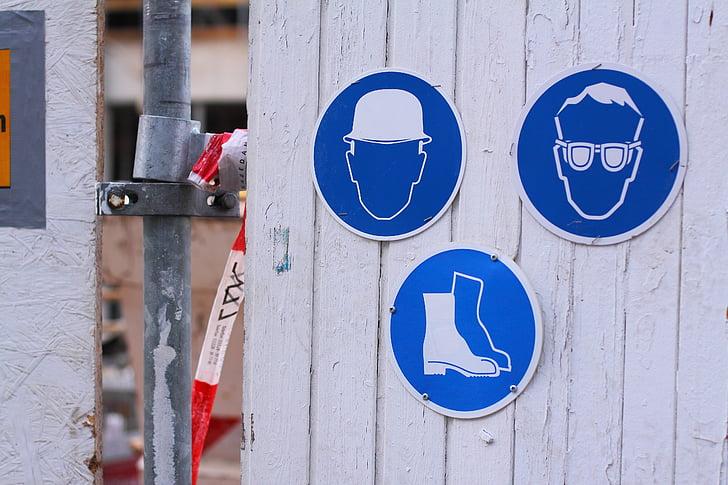 Osh, Bouclier, bleu, protection de la tête, barre, protection des yeux, lunettes