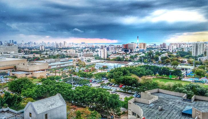 tel-aviv, tel aviv, tempesta, tempesta al mar, Universitat de tel aviv, Universitat TLV, Universitat de tel aviv