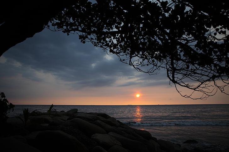 platja de Padang, posta de sol, Indonèsia, bonica, viatges