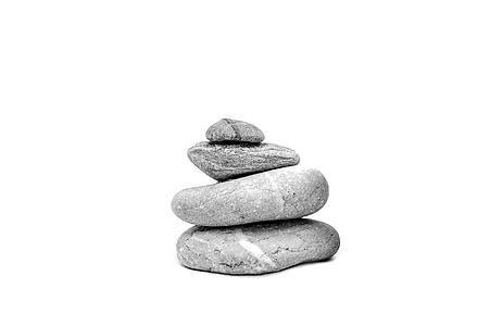 les pedres, pedra, sobre un fons blanc, Zen, meditació, Pau de la ment, pila