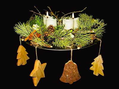 Advent, Advent pärg, küünal, jõulude ajal, kokkuleppe, leek, jõulud Ehted