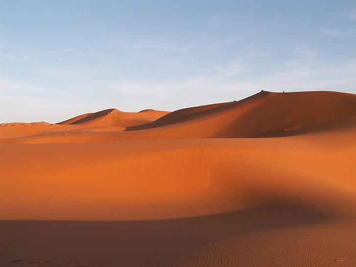 viatges, Marroc, Erfoud, dunes de sorra, desert de, sorra, paisatge