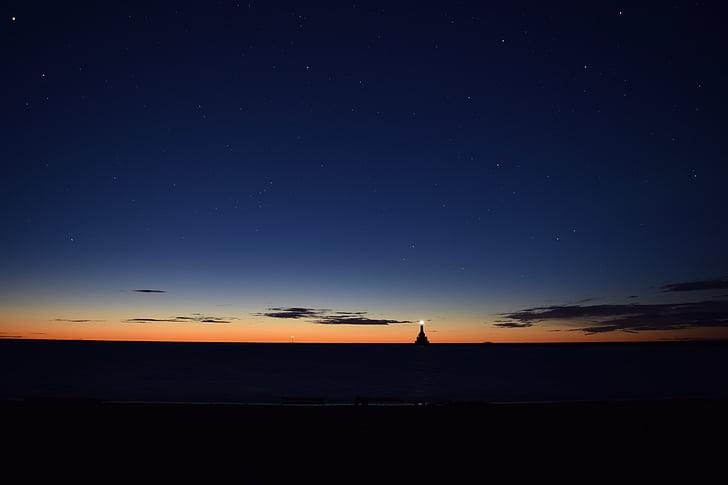 nattehimlen, stjerner nat, nat, Sky, nattehimlen stjerner, stjerner, blå