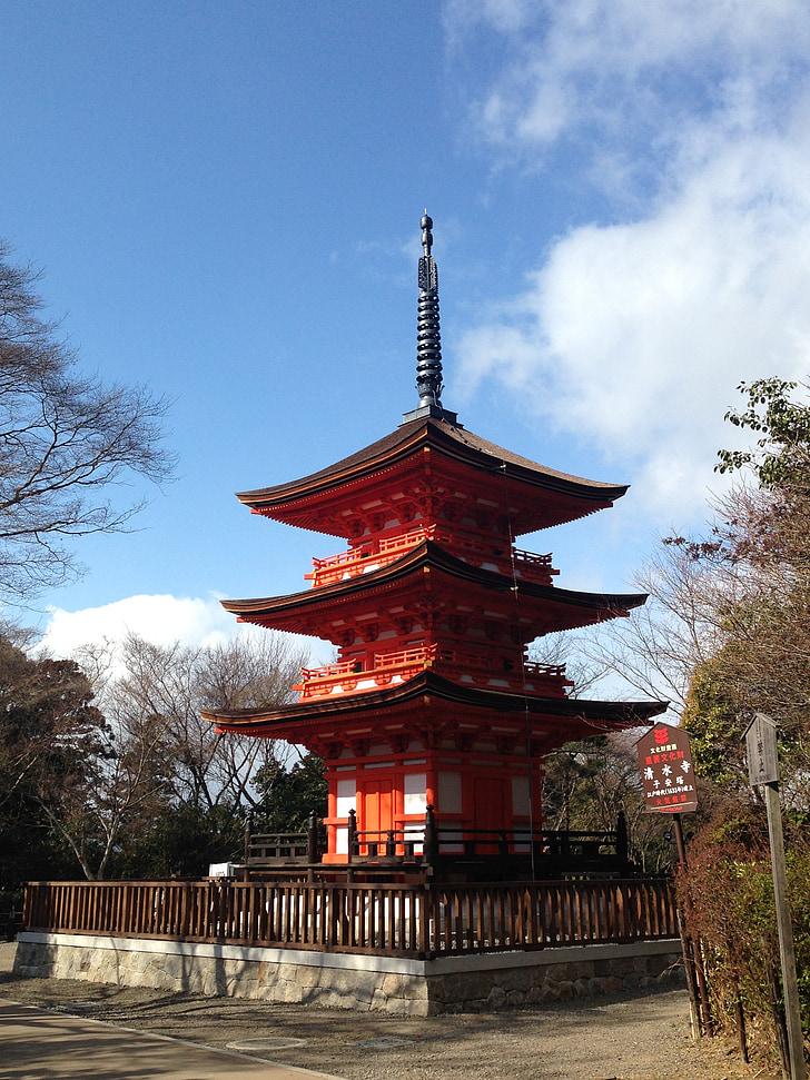 japan, temple, landscape