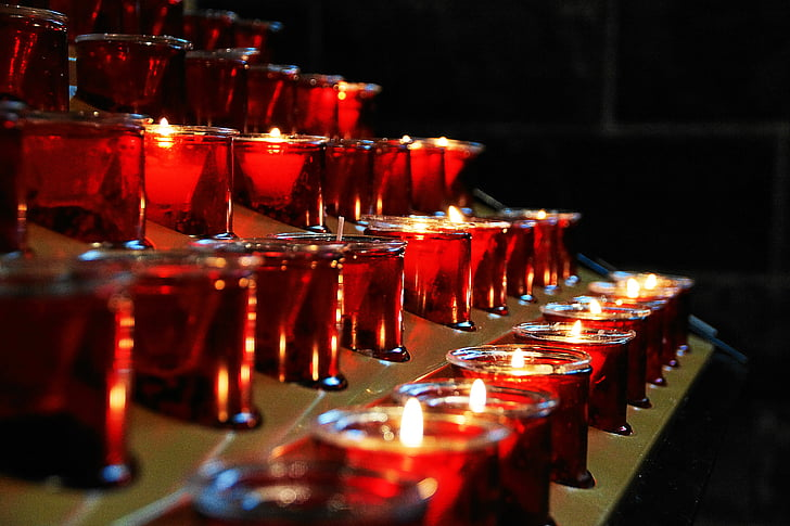 church, candles, faith, prayer, lights, victim candles, heat