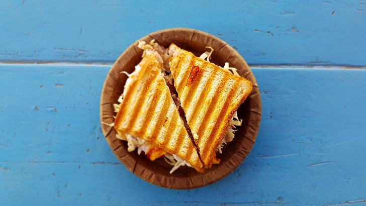 leib, toidu, plaat, võileib, Tabel