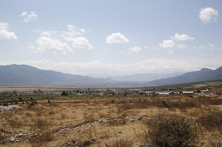 Sky, plateau, ouvrir, montagne, nature, paysage, scenics
