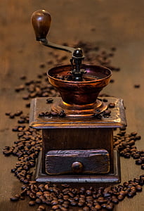 coffee, grinder, old coffee grinder, cafe, caffeine, drink, coffee beans