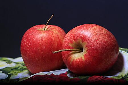 jabuka, Crveni, voće, voće, dekoracija, kasno ljeto, zdrav
