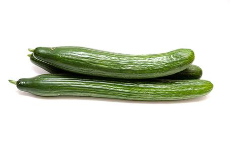 uhorky, šalát, zelenina, jedlo, zdravé, Frisch, Zelená