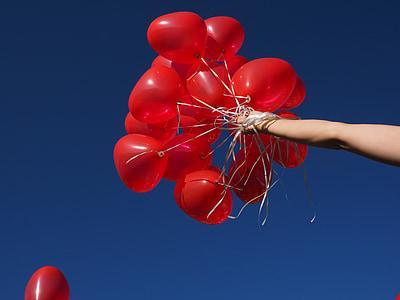 globus, detenció, braç, mà, augment, Actualització, volar