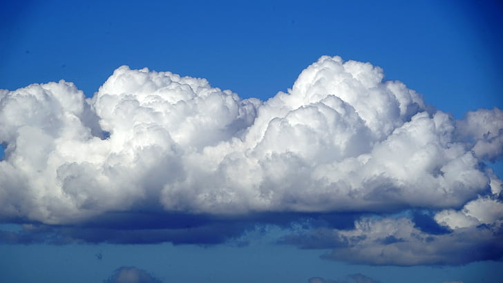 nuvens, céu, azul, Branco, Cumulus, nuvens se formam, nuvem