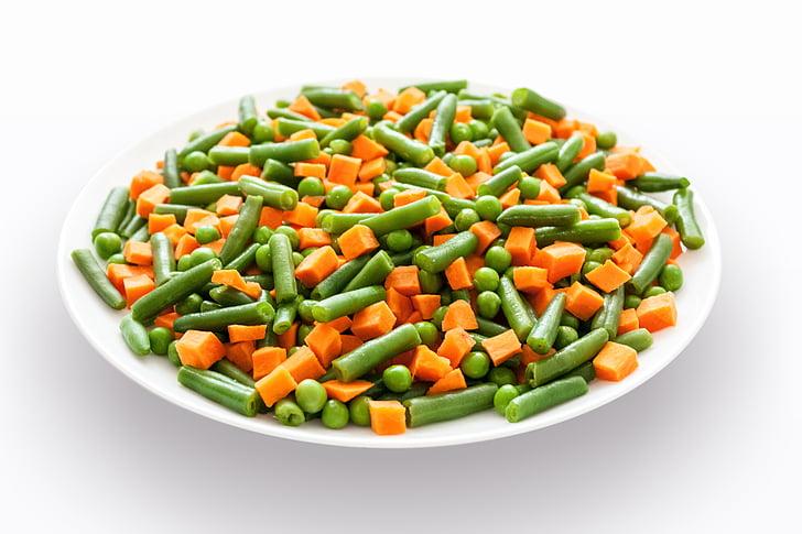 povrće, miješati, salata, hrana, zdrav, vegetarijanska, zelena